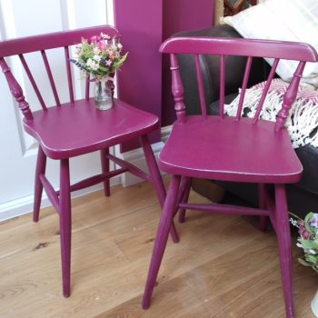 Painted Purple Chairs