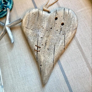 Hanging Driftwood Style Heart